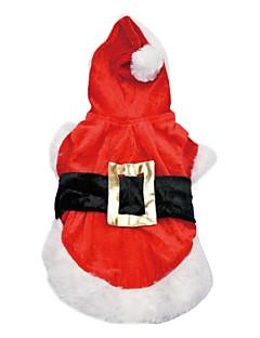 犬 コート パーカー 犬用ウェア キュート ファッション 保温 クリスマス キャラクター レッド