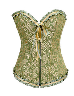 billiga Lolitamode-Korsett Klassisk/Traditionell Lolita Grön lolita tillbehör Satin