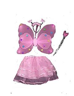 billige julen Kostymer-Eventyr Cosplay Kostumer Santa Clothe Barne Jul Halloween Barnas Dag Festival / høytid polyester PVC Drakter Blå / Rosa / Fuksia Ensfarget