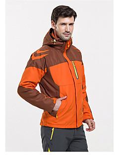 Homme Femme Anorak 3 en 1 Extérieur Hiver Etanche Garder au chaud Pare-vent Doublure Polaire Survêtement combinaisons Ski Camping /