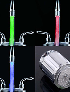 RC-F902 Stylish Water Stream Colorful Luminous LED Light Faucet Light (Plastic, Chrome Finish)