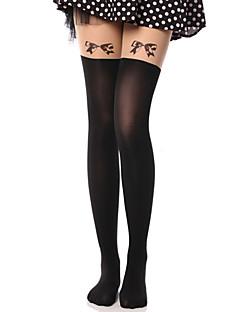 Χαμηλού Κόστους Καλσόν-Πριγκίπισσα Κάλτσες & Καλτσόν Κάλτσες Μέχρι τους Μηρούς Γλυκιά Λολίτα Lolita Γυναικεία Μονόχρωμο Φιόγκος Καλσόν Βελούδο Κοστούμια / Υψηλή Ελαστικότητα
