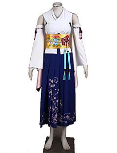 """billige Anime cosplay-Inspirert av Final Fantasy Cosplay Anime  """"Cosplay-kostymer"""" Cosplay Klær Ensfarget Skjørte / BH / Ermer Til Dame Halloween-kostymer"""