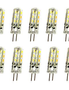 povoljno Sniženje-jiawen 10pcs 1w 120lm g4 led bi-pin svjetla kukuruz žarulja 24led smd 3014 dekorativni luster svjetiljka topla bijela / hladna bijela ac / dc 12v