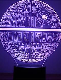 tanie Światła prezentów-1szt siła budzi wielobarwne gwiazdą śmierci lampa stołowa 3d star śmierć tworzenia się główki światło dla fanów Star Wars