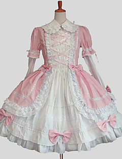 cheap Lolita Dresses-Sweet Lolita Dress Princess Women's Dress Cosplay Blue Pink Long Sleeves Knee Length