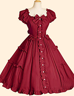 levne -Sweet Lolita Princeznovské Dámské Jednodílné Šaty Cosplay Krátký rukáv