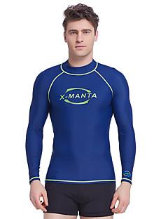 Dive&Sail 男性用 ラッシュガード 防水 保温 速乾性 抗紫外線 抗放射線 耐久性 高通気性 快適 サンスクリーン タクテル エラステイン 長袖 スイムウェア ラッシュガード トップス 水泳 潜水 サーフィン シュノーケリング