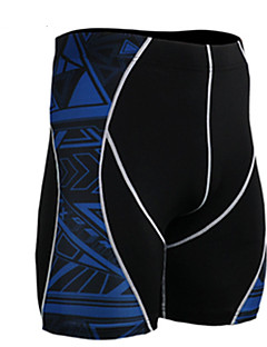男性用 ランニングショーツ 高通気性 モイスチャーコントロール ショートパンツ ボトムズ のために エクササイズ&フィットネス ランニング スパンデックス タイト ブラック L XL XXL XXXL XXXXL