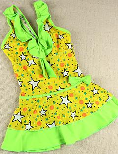 billige Badetøj til piger-Pige Folder Blomstret Patchwork Badetøj, Spandex Grøn Rosa