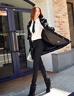 Dames Slank Skinny Jeans Broek,Effen Uitgaan Casual/Dagelijks Vakantie Eenvoudig Street chic Punk & Gothic Medium taille Rits KnoopKatoen