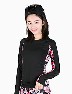 billige Løbetøj-Dame Løbe-T-shirt - Rosa, Army Grøn Sport camouflage Modal T-Shirt / Toppe Yoga, Fitness, Træningscenter Langærmet Sportstøj Hurtigtørrende, Åndbart Høj Elasticitet