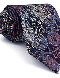 billige Redaksjonens valg-menns vintage søte fest arbeid casual rayon slips farge blokk paisley jacquard, basic