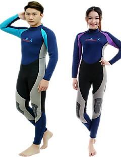 BlueDive® 男女兼用 2mm ウェットスーツ ダイブスキン フルウェットスーツ 保温 速乾性 抗紫外線 耐久性 YKKジッパー ビデオ圧縮 快適 ナイロン ネオプレン 潜水服 トライアスロン スイムウェア ダイビングスーツ 洋服セット/スーツ-水泳 潜水 サーフィン