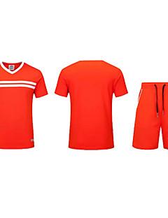 Homens Futebol Conjuntos de Roupas/Ternos Respirável Confortável Verão Miscelânea Terylene Futebol Cinzento Preto Laranja