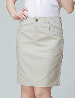 お買い得  レディーススカート-膝上 - スタイル - スカート ( コットン/リネン ) 膝上 - 中型