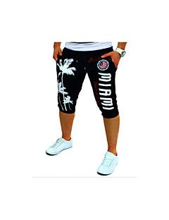 billige Herrebukser og -shorts-Herre Aktiv Bomull Løstsittende Aktiv Joggebukser Chinos Bukser Ensfarget
