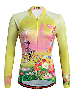 cheap Cycling Clothing-Miloto Women's Long Sleeves Cycling Jersey Bike Jersey, Quick Dry, Breathable, Sweat-wicking, Reflective Strips