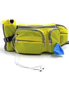 ネコ 犬 トレーニングポーチ バッグディスペンサー ハーネス バックパック ボトルホルダー 犬用ウェア 調整可能 スポーツ 純色 オレンジ イエロー ブルー コスチューム ペット用