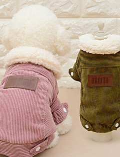 Cat Dog Coat Dog Clothes Casual/Daily Fashion Solid Coffee Pink