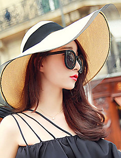 cheap Accessories' New Ins-Women's Holiday Floppy Hat Straw Hat Sun Hat - Solid Colored