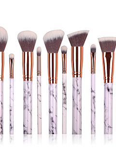 10 Brush Sets Blushkwast Oogschaduwkwast Wenkbrauwkwast Concealerkwast Poederkwast Foundationkwast Contour Brush Synthetisch haar