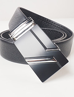 cheap Fashion Belts-Men's Party Work Casual Alloy Waist Belt - Solid