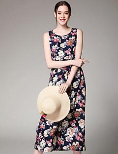 Χαμηλού Κόστους Print Dresses-Γυναικεία Φαρδιά Φόρεμα - Στάμπα Ψηλοκάβαλο