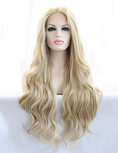 cheap -Synthetic Lace Front Wig Women's Natural Wave Blonde Beyonce Style 180% Density Synthetic Hair 18-26 inch Heat Resistant / Natural Hairline Blonde Wig Long Lace Front Blonde / Yes