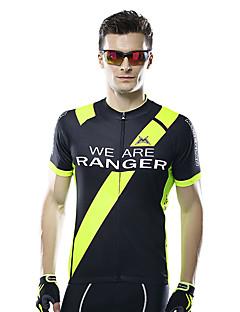 Mysenlan Camisa para Ciclismo Homens Manga Curta Moto Camisa/Roupas Para Esporte Blusas Respirável Poliéster Clássico Verão Ciclismo/Moto