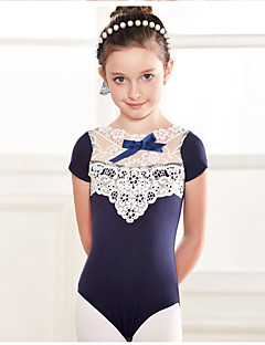 cheap Ballet Dance Wear-Ballet Leotards Children's Training Cotton Lace 1 Piece Short Sleeve Dropped Leotard