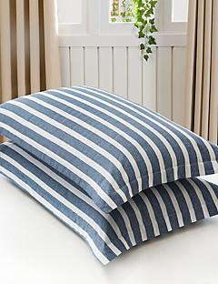 お買い得  枕カバー-ポリ / コットン コットン 反応染料 フラワー 2×枕カバー