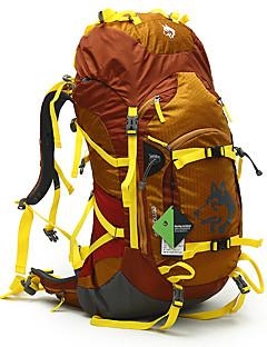 billiga Ryggsäckar och väskor-55L Ryggsäckar / Ryggsäck - Vattentät, Regnsäker, Vattentät dragkedja Camping, Klättring Blå, Grön, Gul