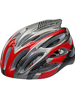 billiga Cykling-KUYOU Vuxen cykelhjälm 28 Ventiler CE Certifiering Stöttålig EPS, PC Vägcykling / Rekreation Cykling / Camping - Himmelsblå / Röd / Vit+Himmelsblå