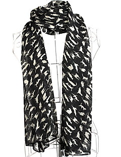 New Korean Version Of The Long Scarf Lady Chiffon Kitten Printing Scarf