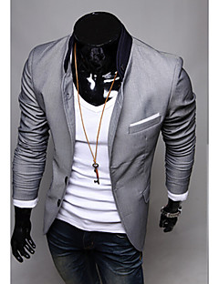 Men's Casual/Daily Work Casual Spring Summer Fall Blazer