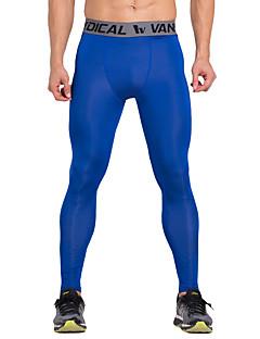 Vansydical® Homens Calças de Corrida Secagem Rápida Respirável Leggings Roupas de Compressão Meia-calça Calças para Exercício e Atividade