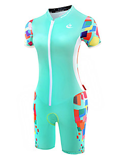 cheap Cycling Clothing-Malciklo Tri Suit Women's Short Sleeves Bike Triathlon/Tri Suit Anatomic Design Breathable Anti-skidding/Non-Skid/Antiskid Sweat-wicking