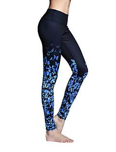 Mulheres Calças de Corrida Secagem Rápida Respirável Meia-calça Leggings Calças para Ioga Pilates Exercício e Atividade Física Esportes