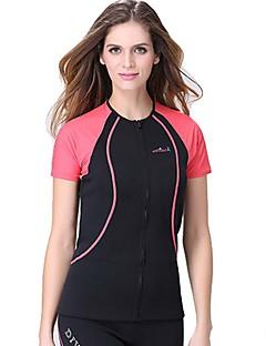 Femme 1,5 mm Haut de Combinaison Respirable Séchage rapide Design Anatomique Chinlon Tenue de plongée Manches courtes Hauts/Tops-Natation