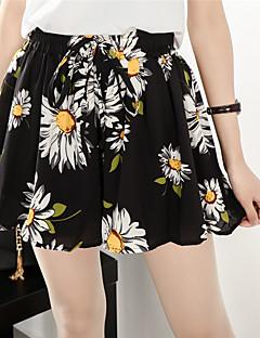 弾性ウエストシフォンスカートパンツを底XL女性200ポンド脂肪ミリメートル春と夏のショートパンツに署名