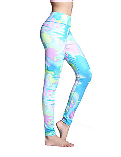 Women's Running Pants Quick Dry Breathable Leggings Tights Bottoms for Yoga Pilates Exercise & Fitness Leisure Sports Running Polyester