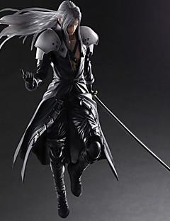 billige Anime cosplay-Anime Action Figurer Inspirert av Final Fantasy Sephiroth PVC 28 CM Modell Leker Dukke