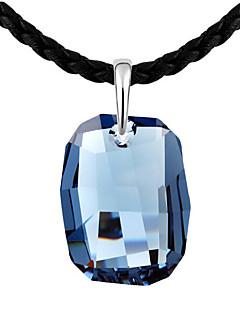 Kadın's Uçlu Kolyeler Kristal Kişiselleştirilmiş Wzór geometryczny Eşsiz Tasarım Moda Euramerican Mücevher Uyumluluk Düğün Parti Doğumgünü