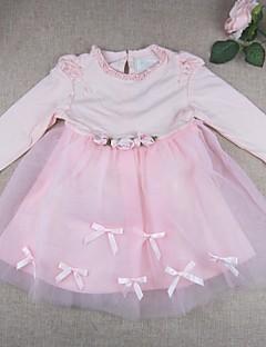 Baby Kleid-Ausgehen einfarbig Baumwolle Nylon-Frühling Herbst