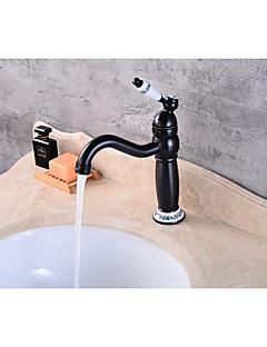 billige Sidesray-Baderom Sink Tappekran - Moderne Olje-gnidd Bronse Centersat Keramisk Ventil