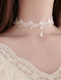 billiga Lolitaaccessoarer-Söt Lolita Halsband Vintage-inspirerad lolita tillbehör Enfärgad Halsband Polyester Metall