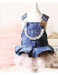 犬 ドレス 犬用ウェア キュート カジュアル/普段着 プリンセス ブルー