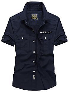 tanie Koszulki turystyczne-Męskie Koszula turystyczna na wolnym powietrzu Lato Oddychający Szybkie wysychanie T-shirt Top Kemping i turystyka Wędkarstwo Khaki