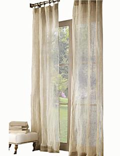 baratos Cortinas Transparentes-Sheer Curtains Shades Quarto das Crianças Sólido Linho Estampado